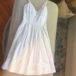 Lilly Pulitzer White eyelet midi dress